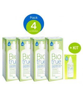 Pack 4 uds Biotrue 300 ml +...