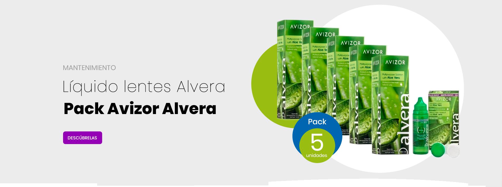 Pack Avizor Alvera 5 Uds 350 Ml + Solución 60ml